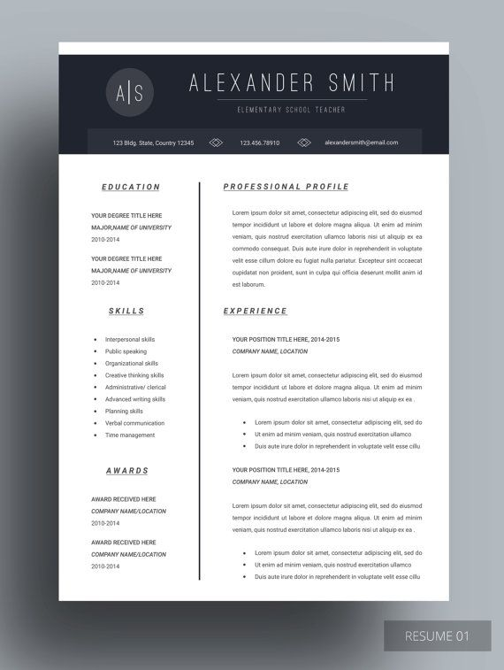 resume template resume modern resume design job cv template