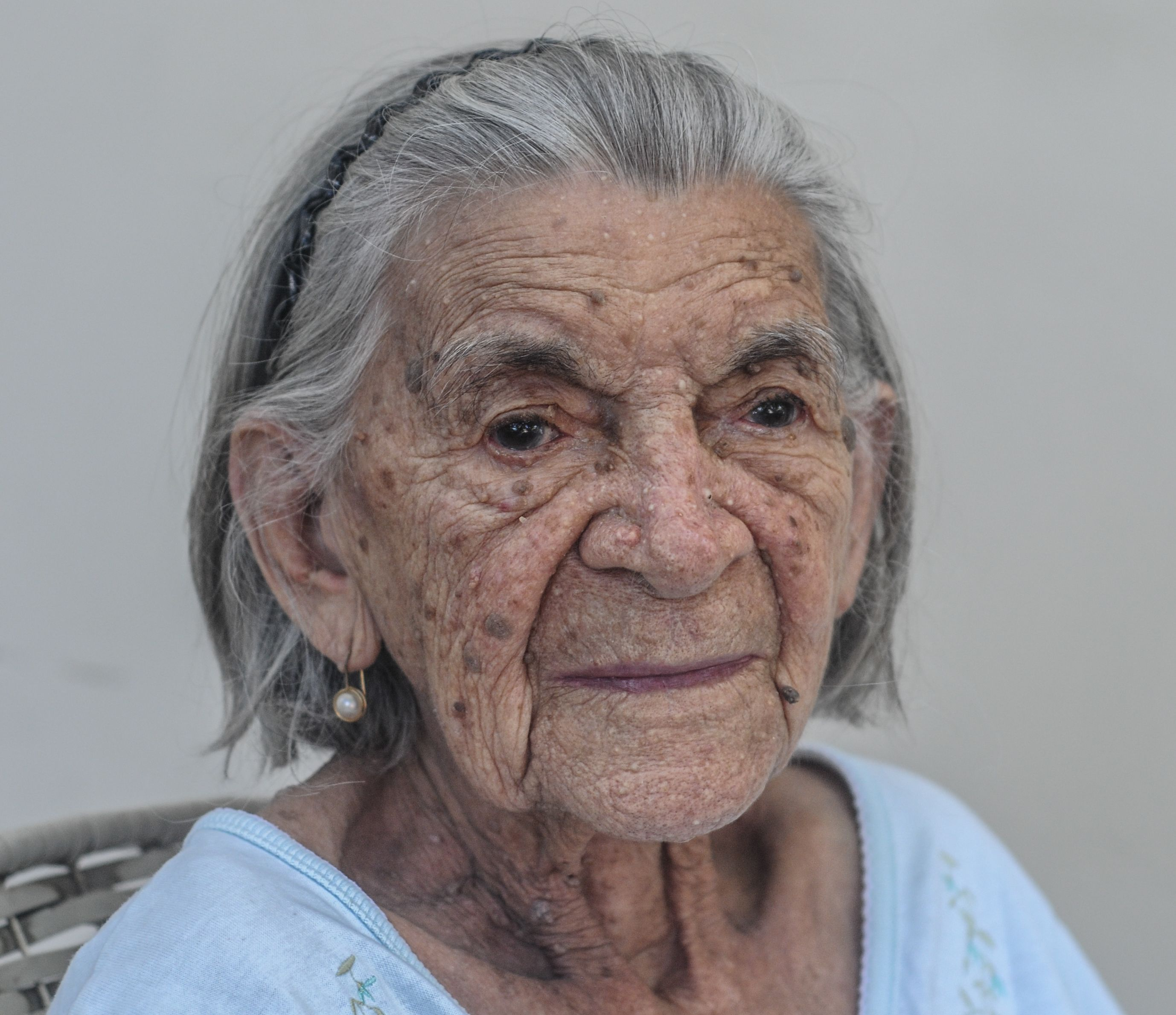 nosy venezuelan woman of 94 years old from margarita island