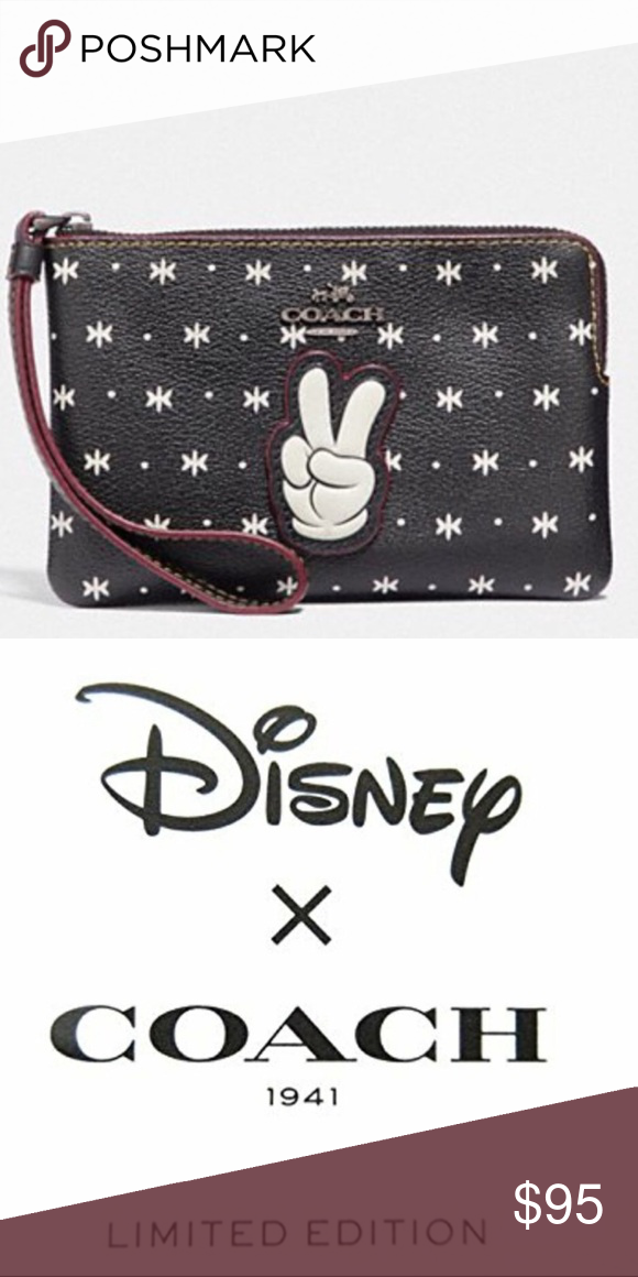bbac99ef5219 Coach x Disney Corner Zip Wristlet 🔶BRAND NEW WITH TAGS AND AUTHENTIC🔶  Coach x