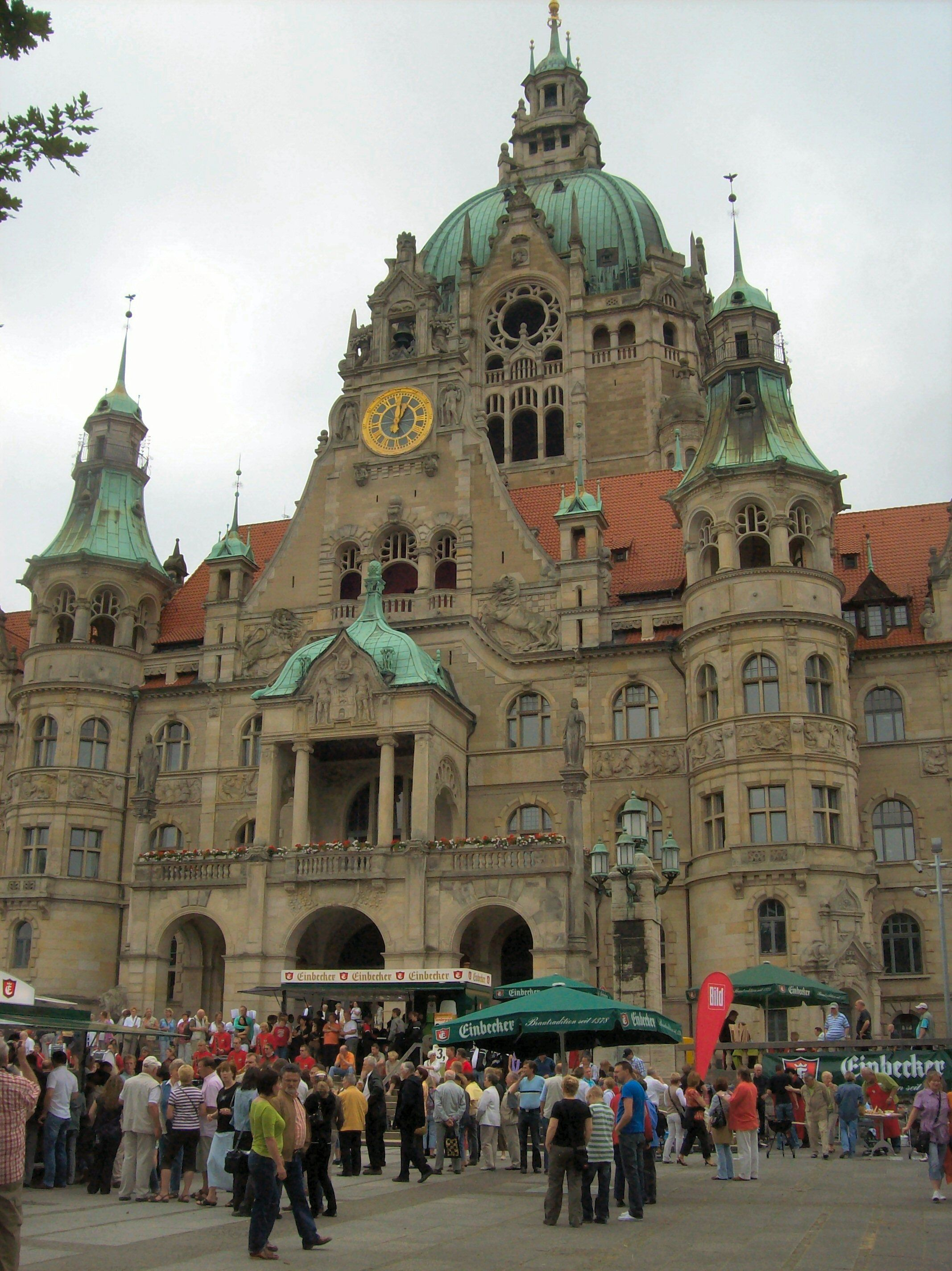 Neues Rathaus in Hannover, Germany Hannover, Bremerhaven