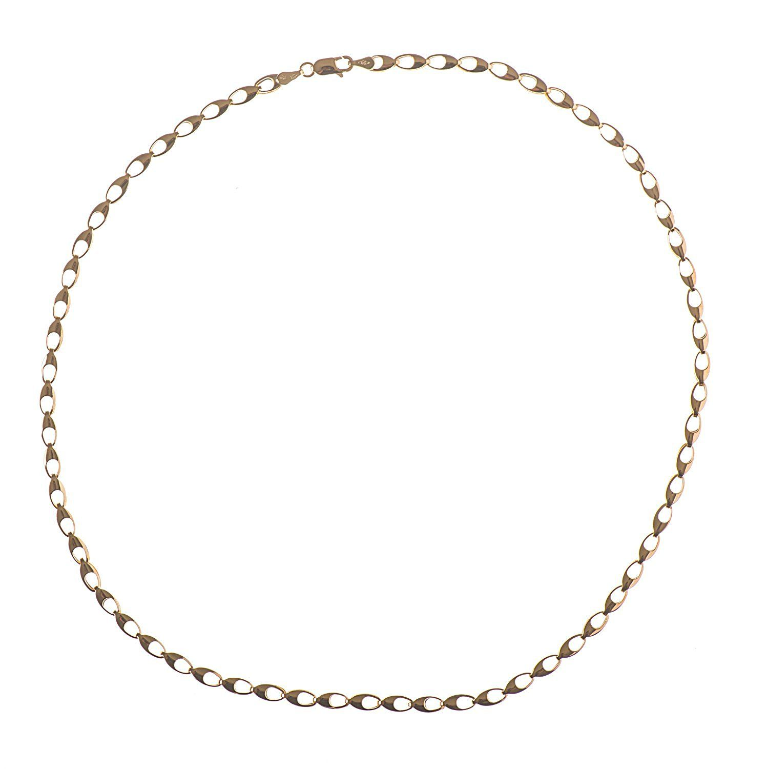 Adara 9 ct Yellow Gold Hollow Curb Chain of Length 45.72 cm OvmC9ep5