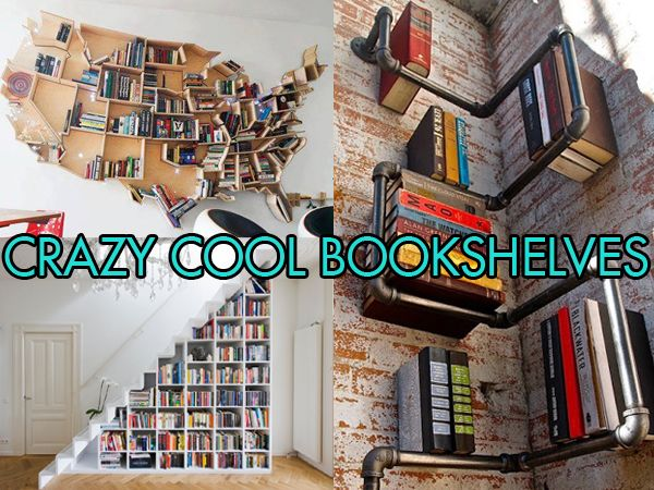 Cool Bookshelves home inspiration: 10 crazy cool bookshelves | bedrooms, house and room