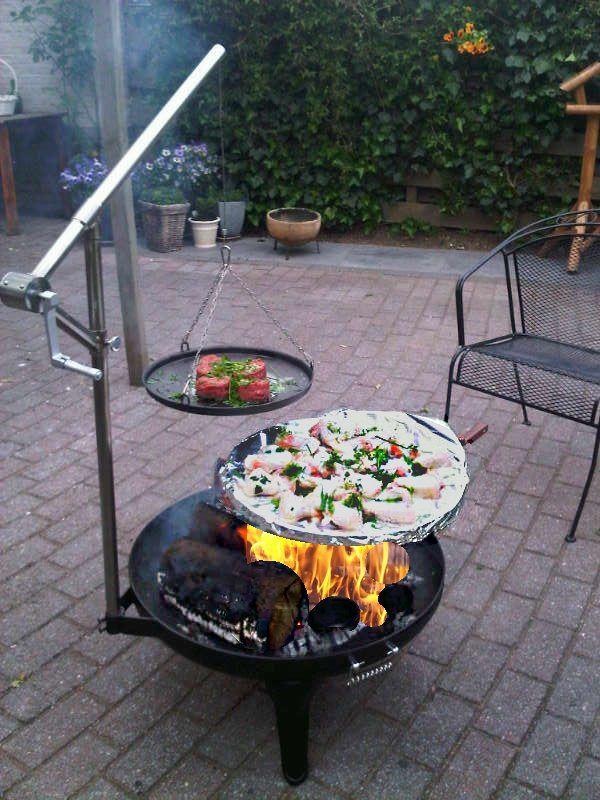 oklahomabbq broilfire brasero fire grill vuurschaal. Black Bedroom Furniture Sets. Home Design Ideas