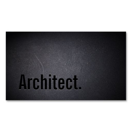 Professional Black Out Architect Business Card other Pinterest