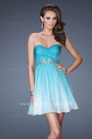 strapless blue dresses juniors - Google Search | sweet 16 dresses ...