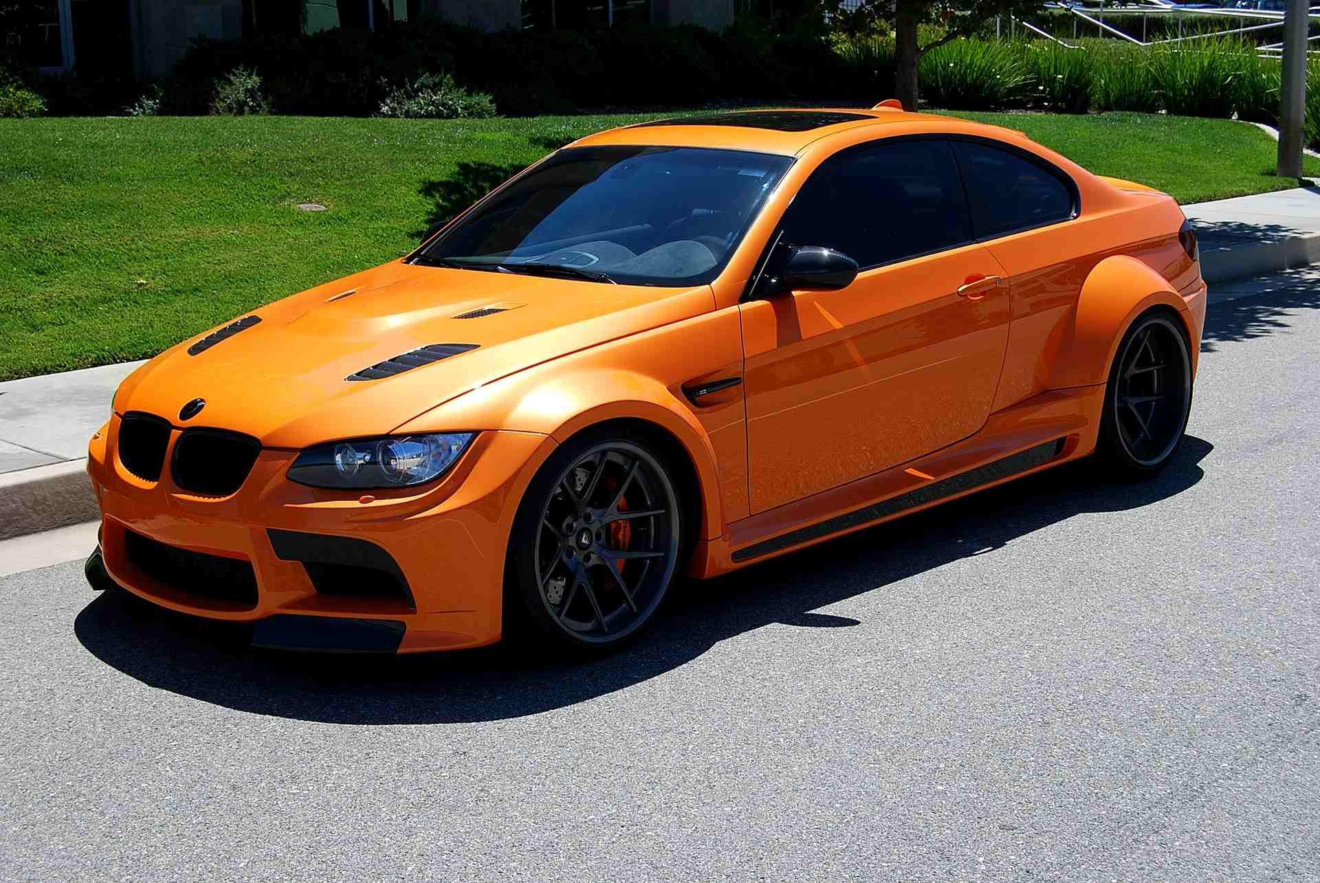 E92 2008 Bmw M3 Vorsteiner Gtrs3 Widebody Orange Black With
