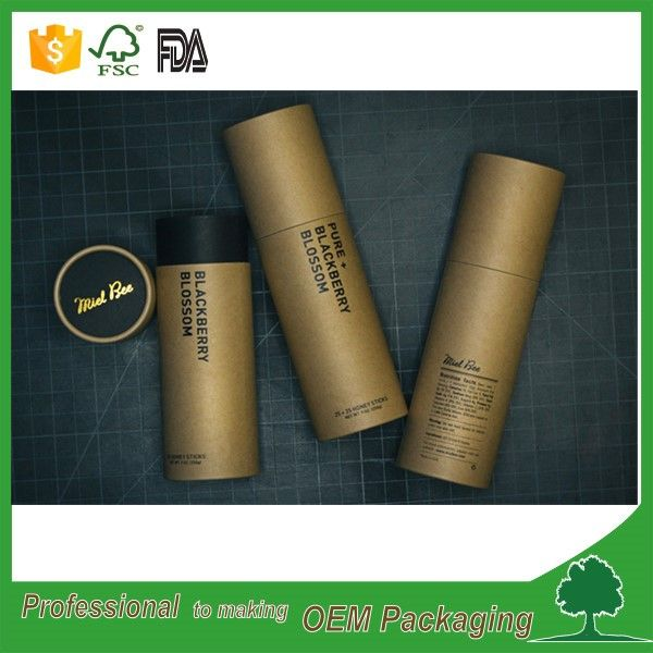 Source Eco friendly deodorant container push up paper tube plain