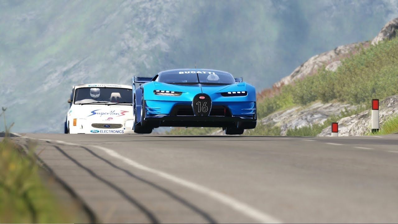 Bugatti Vision GT vs Ford Supervan III at Highlands