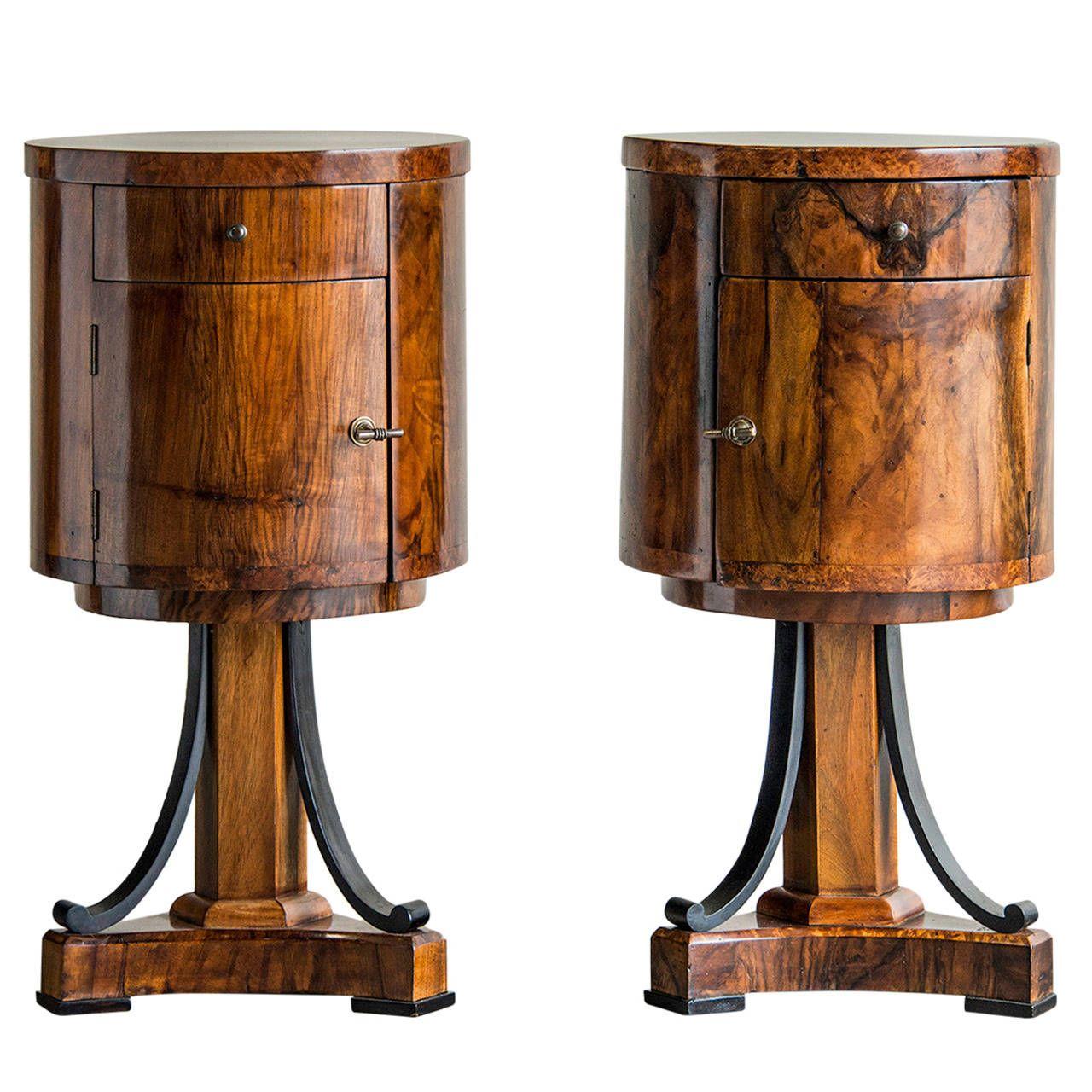 Biedermeier Period Walnut Cabinets Germany Circa 1820 1860