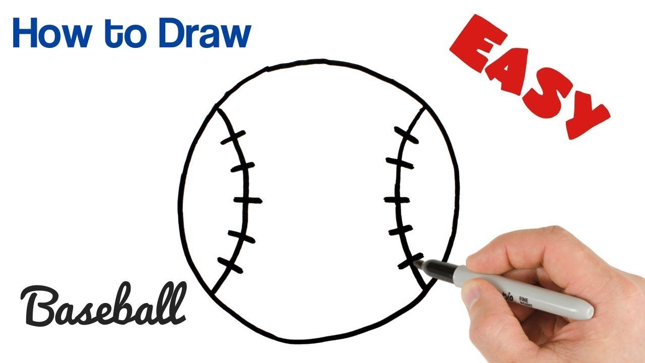 How To Draw A Baseball Easy Ball Drawing For Beginners Drawing
