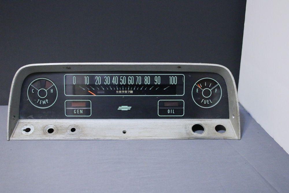 Original Chevy Chevrolet C10 Truck Dash Instrument Panel Cluster