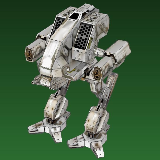 MechWarrior 4 Vulture Papercraft | cool stuff | Paper robot