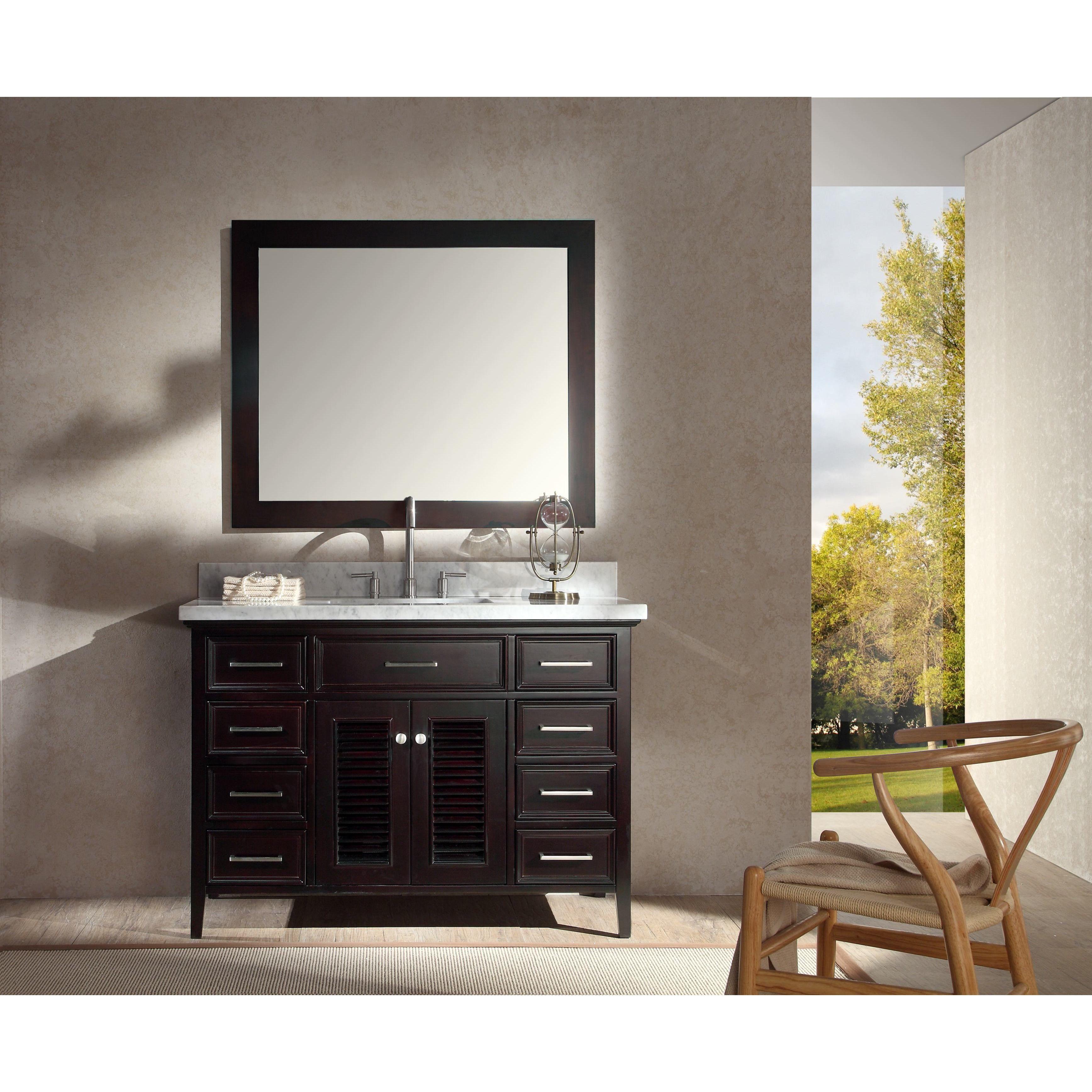 Image Of Ariel Kensington inch Single sink Espresso Vanity Set Kensington Single Sink