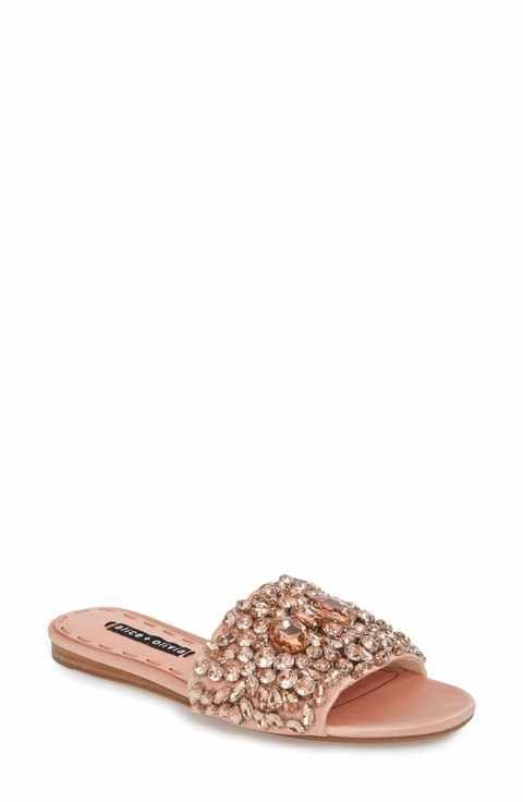 ALICE+OLIVIA Women's Abbey Crystal Embellished Slide Sandal d0QXW