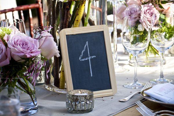 A Chalkboard Wedding Theme Table Numberschalkboard