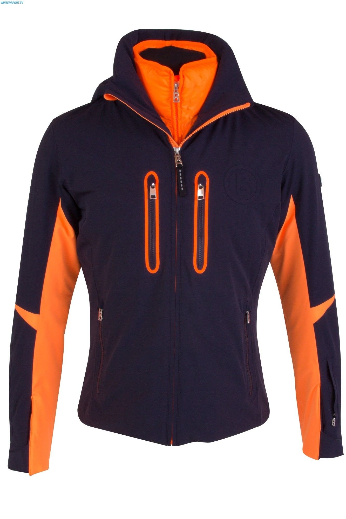 5d11362457f4fb Bogner Men Randy T Jacket - Navy Neo Orange 2018 | Men of Mention ...