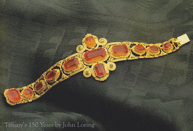 Fire opal bracelet.