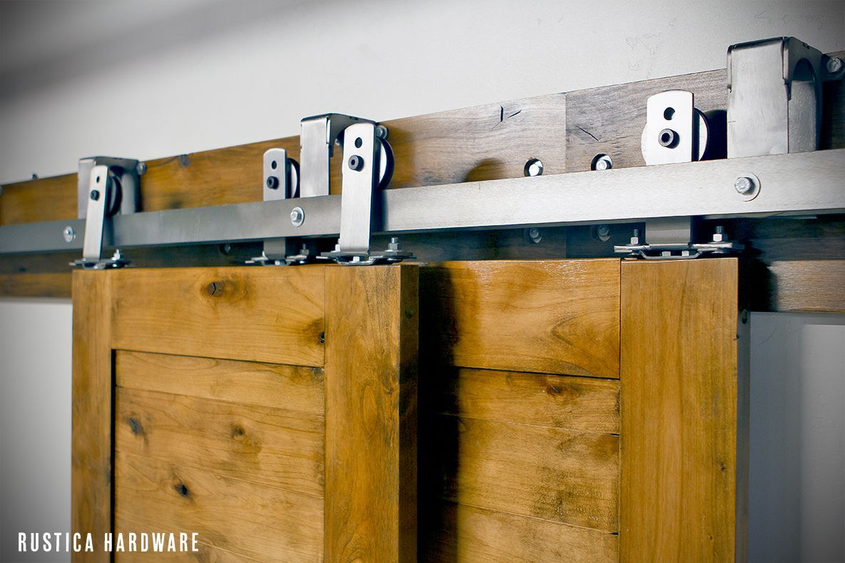 By Pass Barn Door Hardware Allows Up To 3 Doors To Slide In Front Or In  Back Of Each Other.
