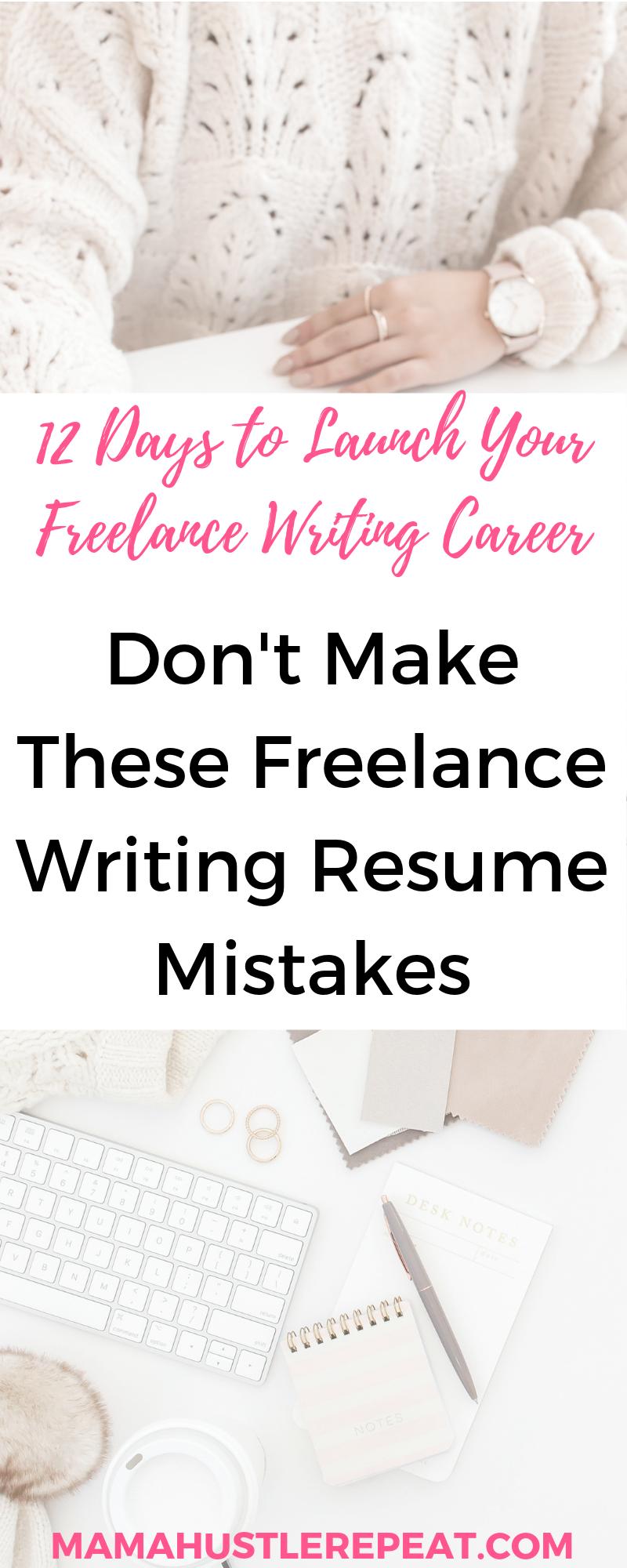 5 Freelance Writer Resume Mistakes to Avoid Online