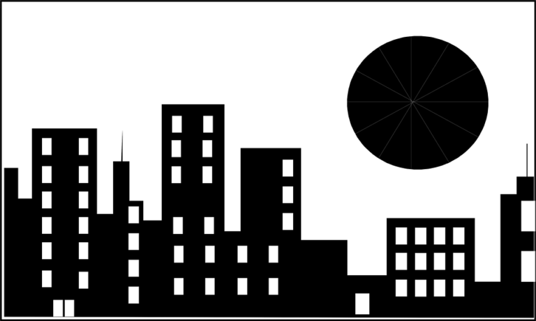 30+ Building Clipart Black And White