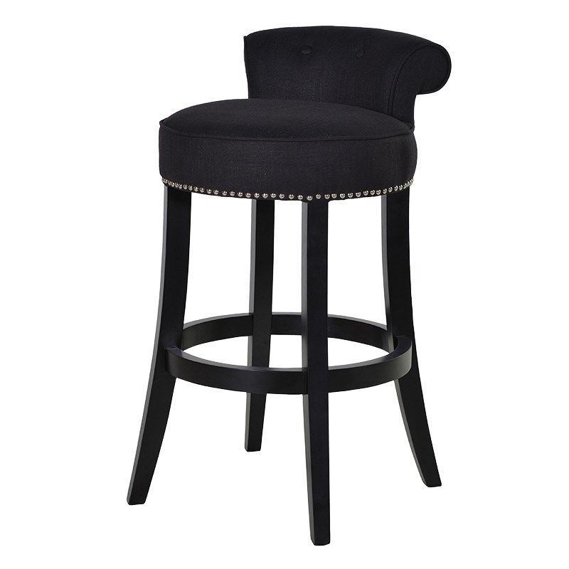 Black Bar Stool With Pipping