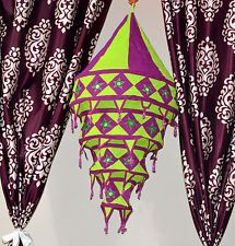 Indian Embroidery Mirror Designer Hanging Lamp Traditional Lightning Lamp Shades