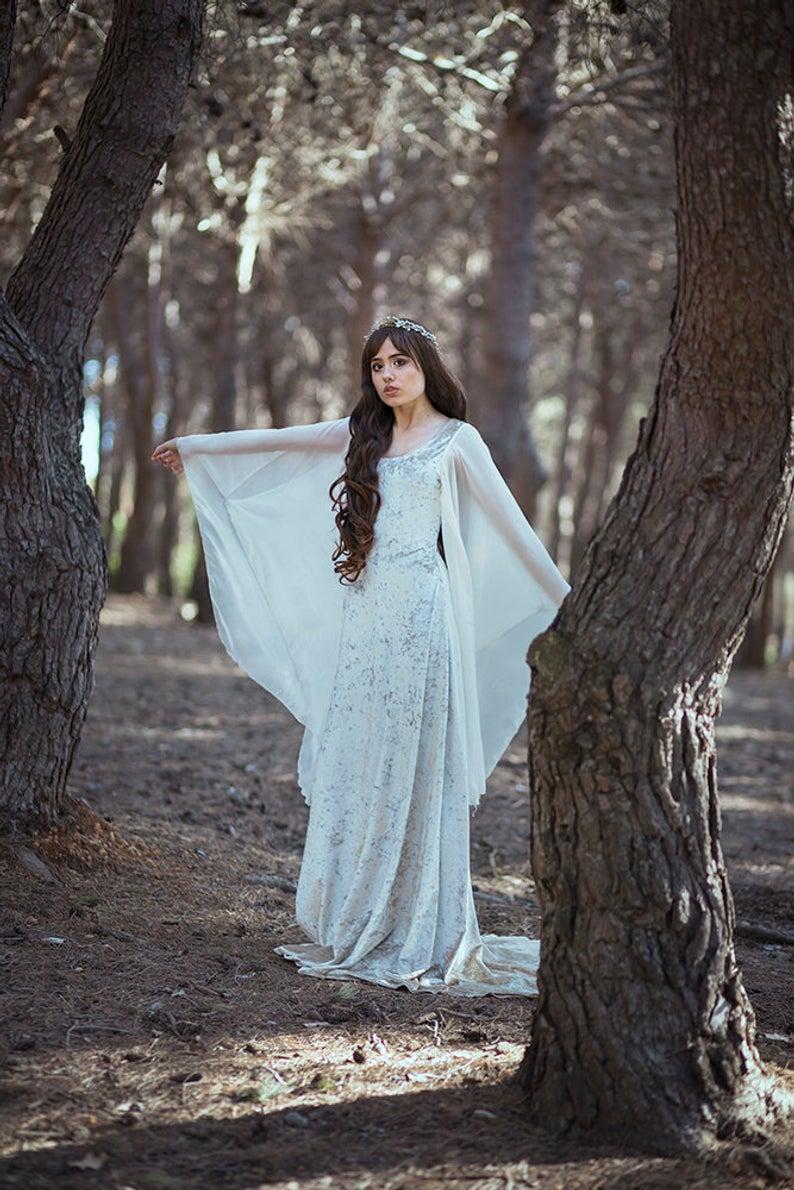 Mittelalterkleid Keltisches Hochzeitskleid Galadriel Kostüm Elfen