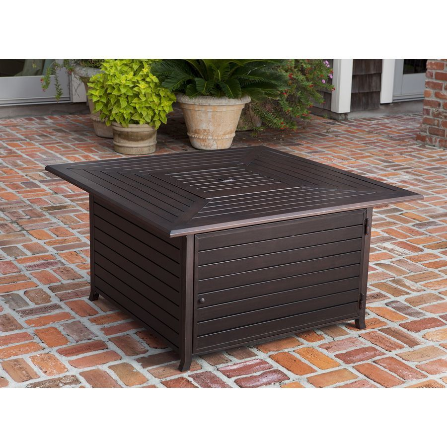 Photo of rectangular fire pit coffee table – A round coffee table is ideal for promoting …
