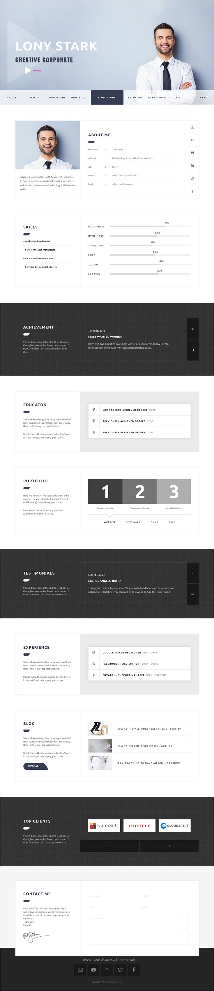 CVitae is responsive materialized HTML template for