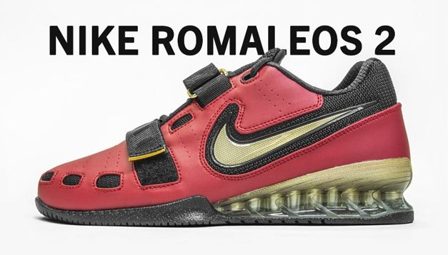 8ab914dd13f9 Nike Romaleos 2 Weightlifting Shoes - Red   Gold - Rogue Fitness ...