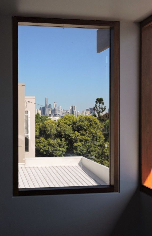 Large Timber Framed Fixed Glass Window With A View Via Allkind