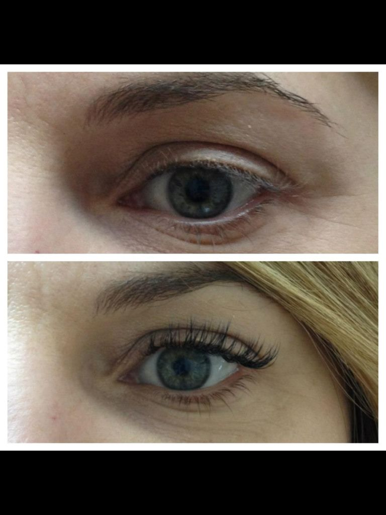 Before and after with Xtreme minx lash extensions.  Light weight and natural!! Enjoy not having to apply mascara!