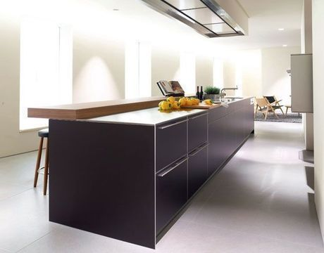 Cuisine moderne 2018  25 modèles Cuisine, Kitchens and Future - cuisine avec ilot central et table
