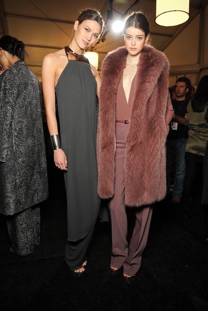 Karlie Kloss and Julia Saner Backstage at Michael Kors Fall 2011-RTW