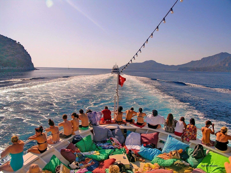A sun and fun boat tour near marmaris in turkey boat