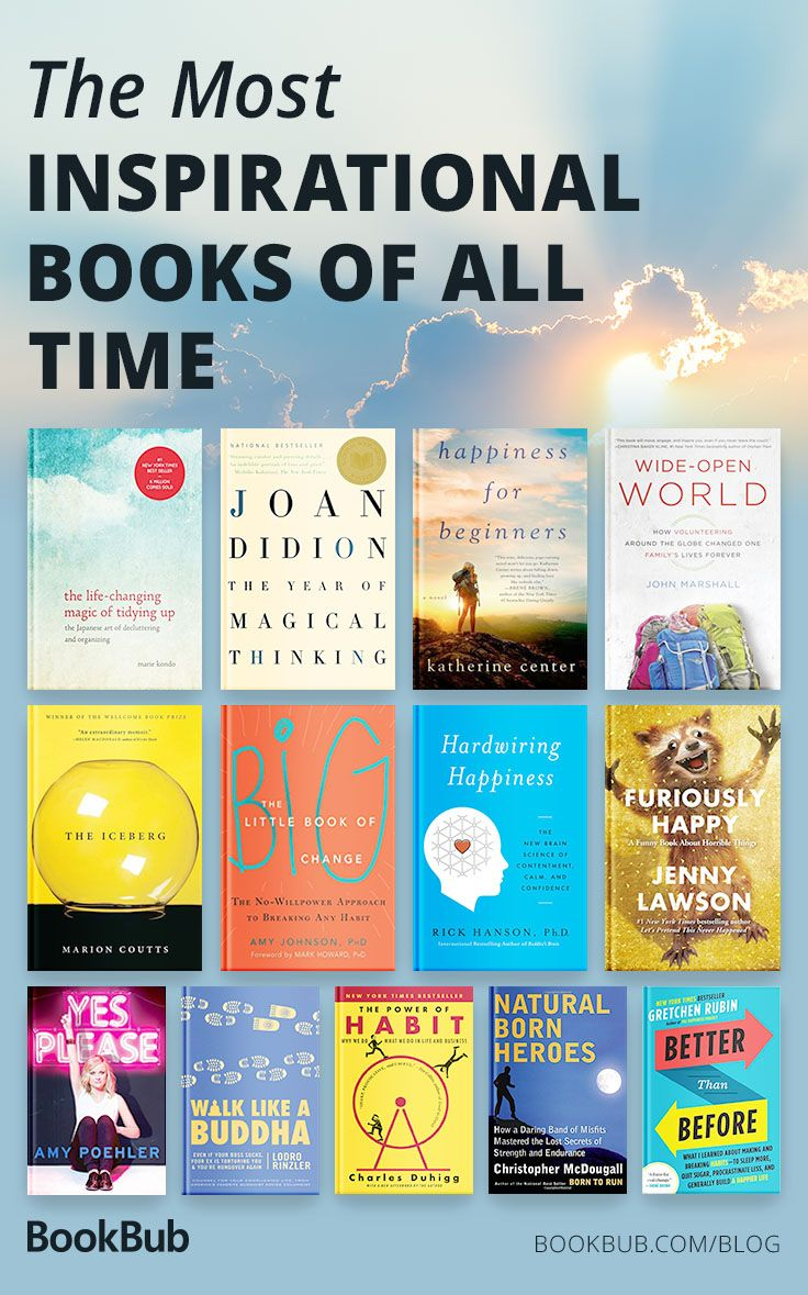 Looking for a book to inspire you? This collection of motivational and inspirational books will raise your spirits and make you think.