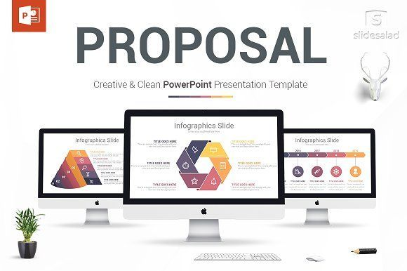 business proposal powerpoint design by slidesalad on creativemarket