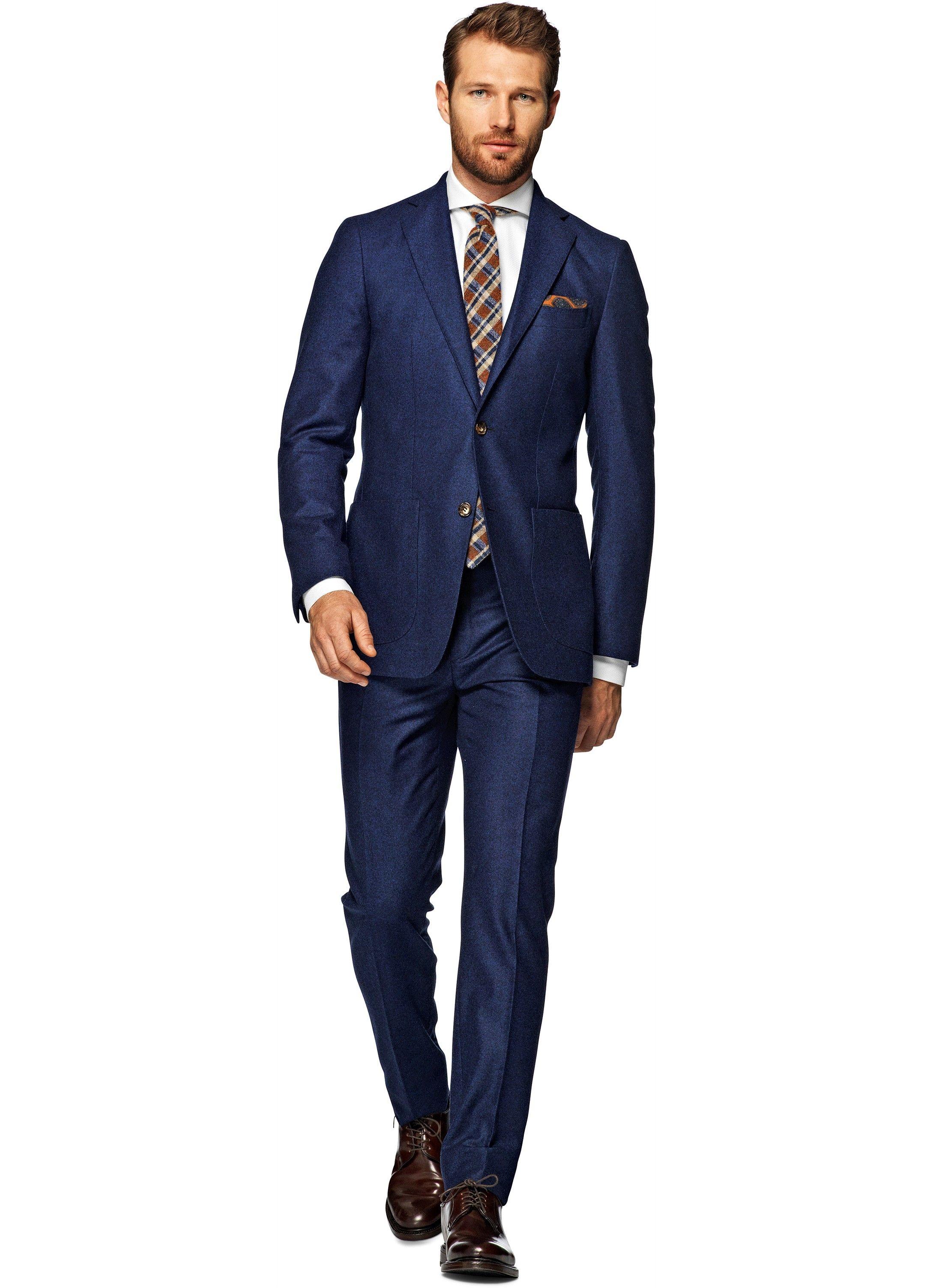 Suit Blue Herringbone Havana P3979i   Suitsupply Online Store ...