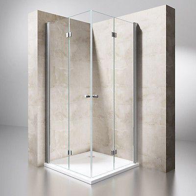 Details zu Dusche Duschkabine Falttür Echtglas Duschabtrennung ...
