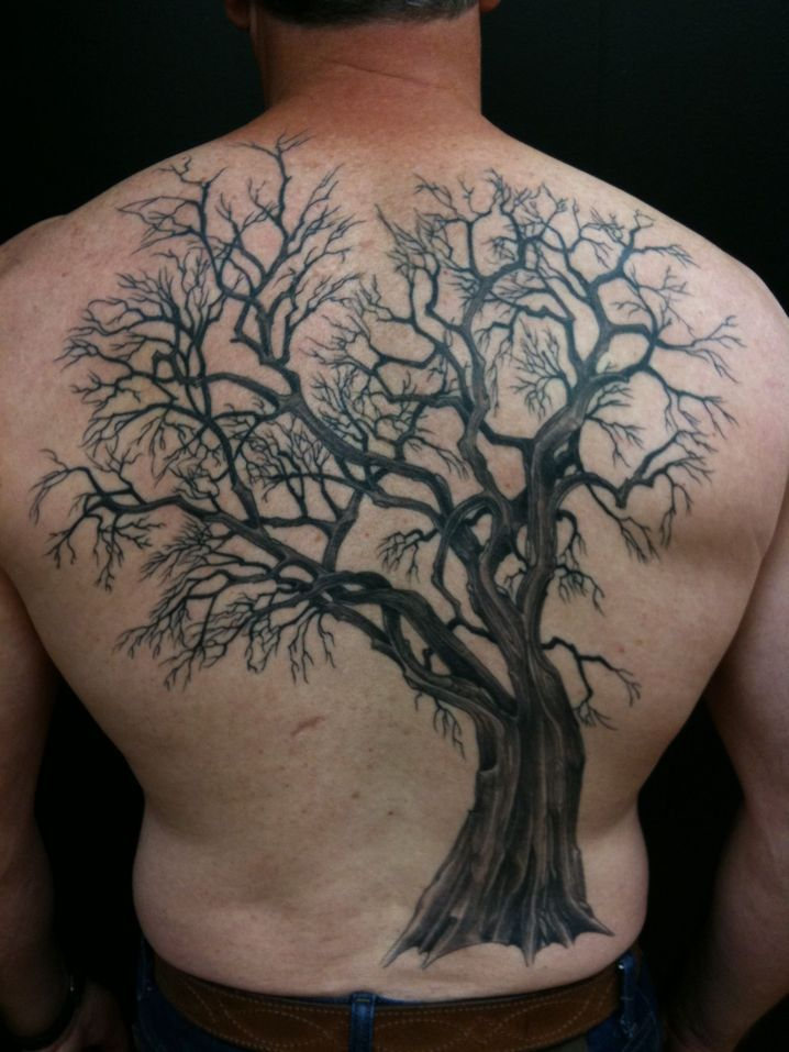 Tree back piece tattoo like the idea not sure about for Tree back tattoo