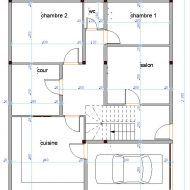 رسم تخطيط منزل House Floor Design House Map Family House Plans