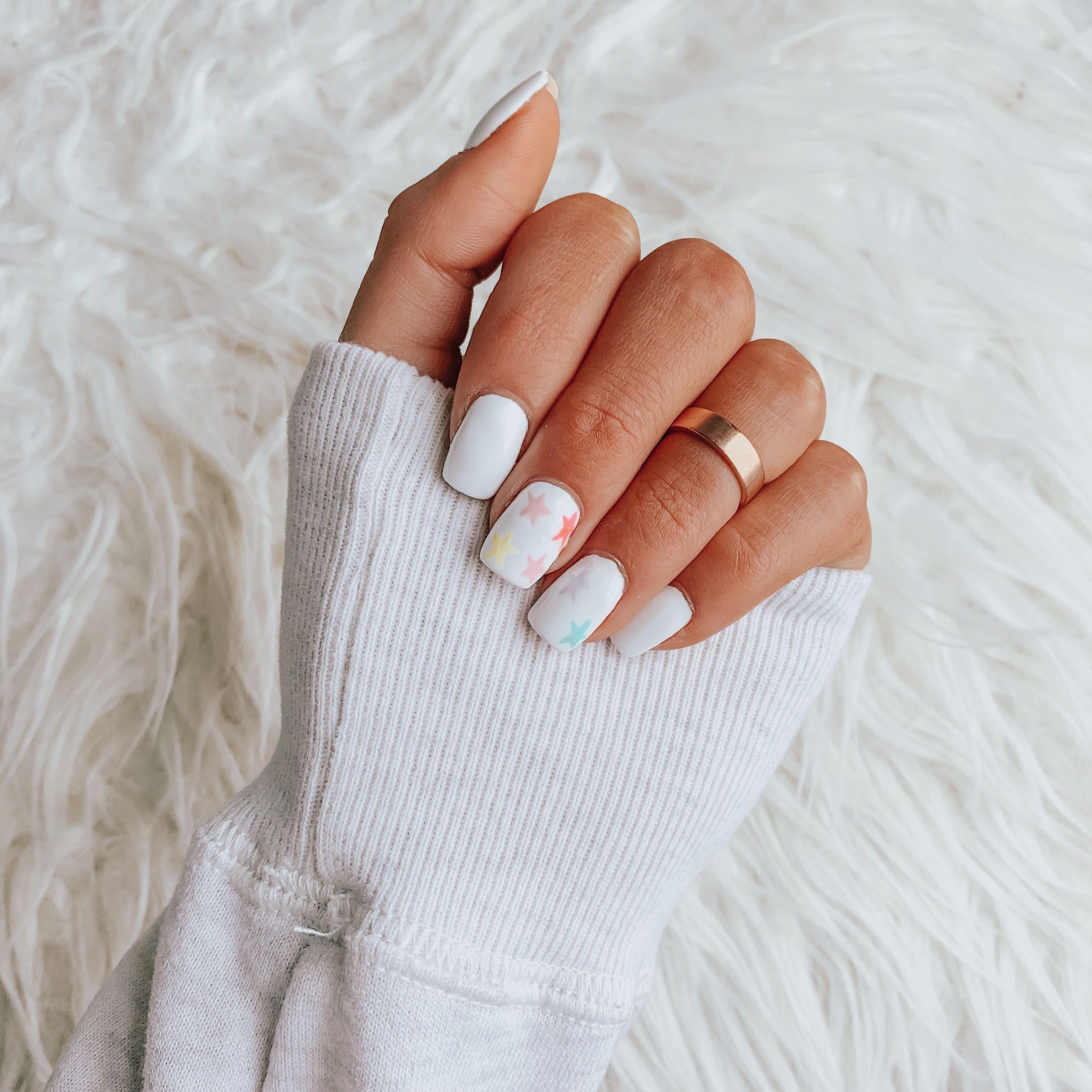 Star Nails Short Acrylic Nails Designs Short Acrylic Nails Gel Nails