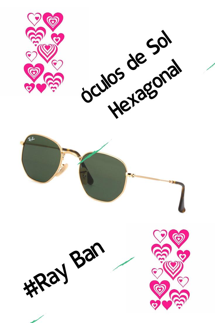 206b1a767 Óculos De Sol Hexagonal Masculino Feminino Original Promoção ...
