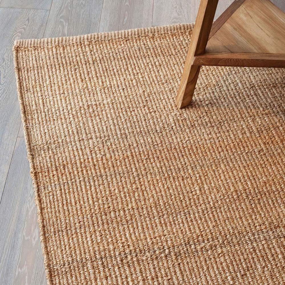 armadillo co designer nest weave hemp rug- natural hand woven