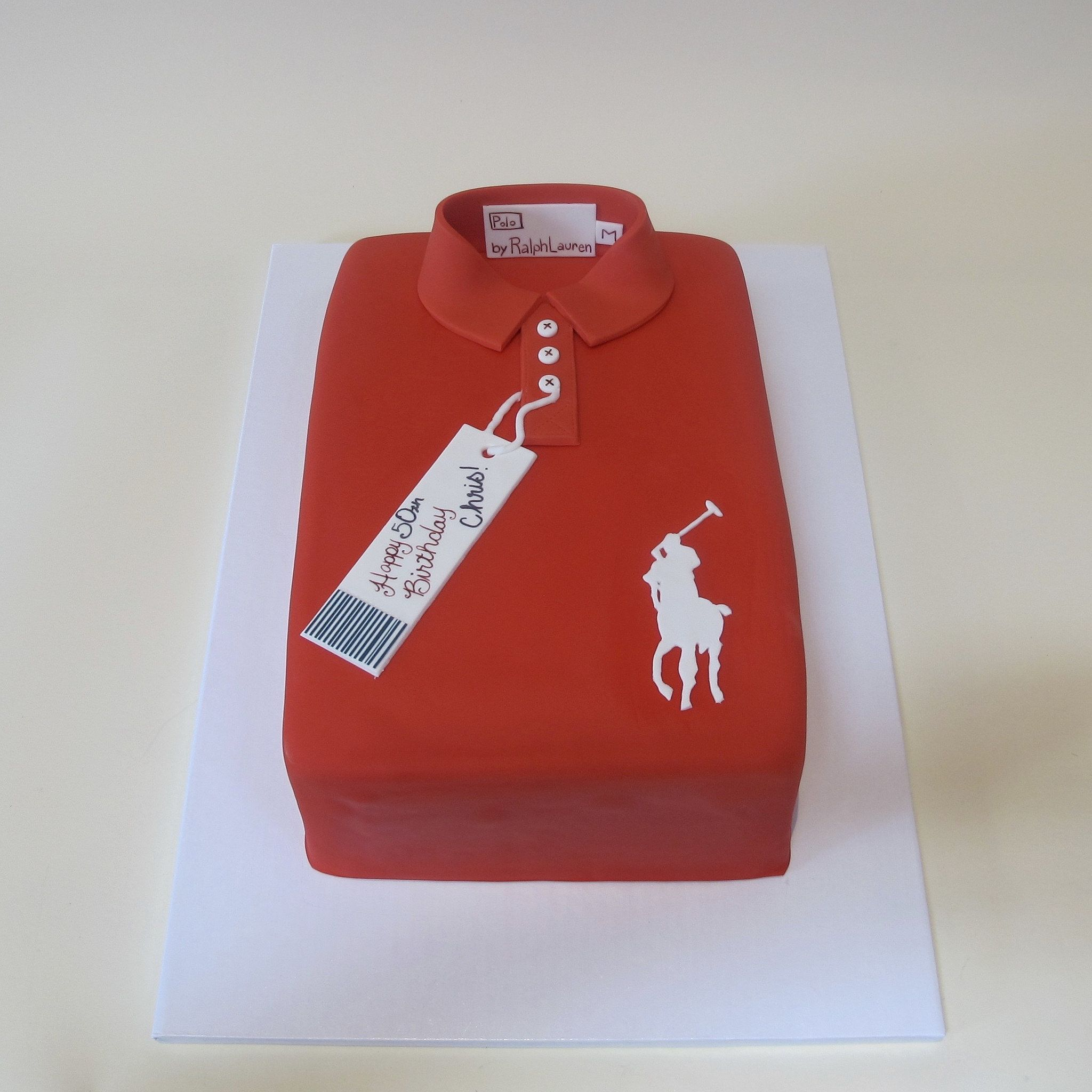 Happy 50th Red Polo Shirt 300998