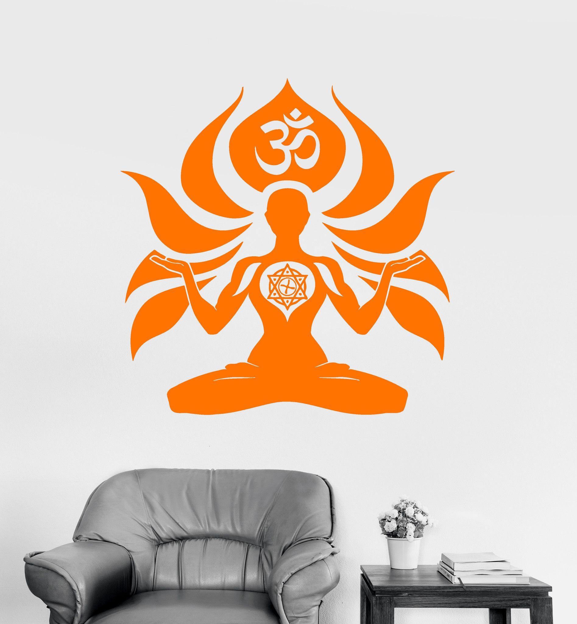 Vinyl Wall Decal Yoga Meditation Room Om Sanskrit Hinduism - Zen wall decalsvinyl wall decal yin yang yoga zen meditation bedroom decor