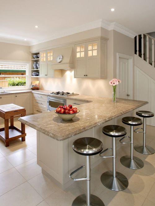 Kitchen Peninsula Design Ideas & Remodel Pictures   Houzz   White ...