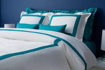 Lacozi Turquoise And White Duvet Cover Set Modern Bedding