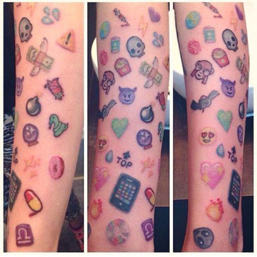 Emoji Emoji Tattoos Funny Tattoos Inked Magazine Emoji Tattoo Tattoos Candy Tattoo