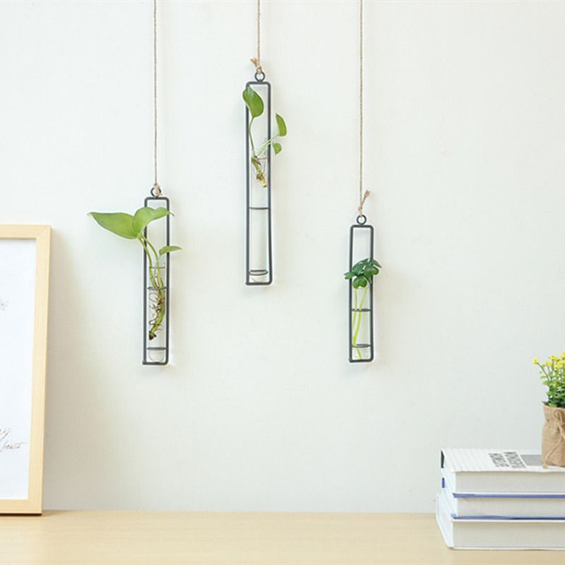 Cheap Vases Buy Directly From China Suppliers Creative Wall Hanging Flower Vase Iron Glass Hydroponics Planter Wall Vase Glass Flower Vases Hanging Terrarium
